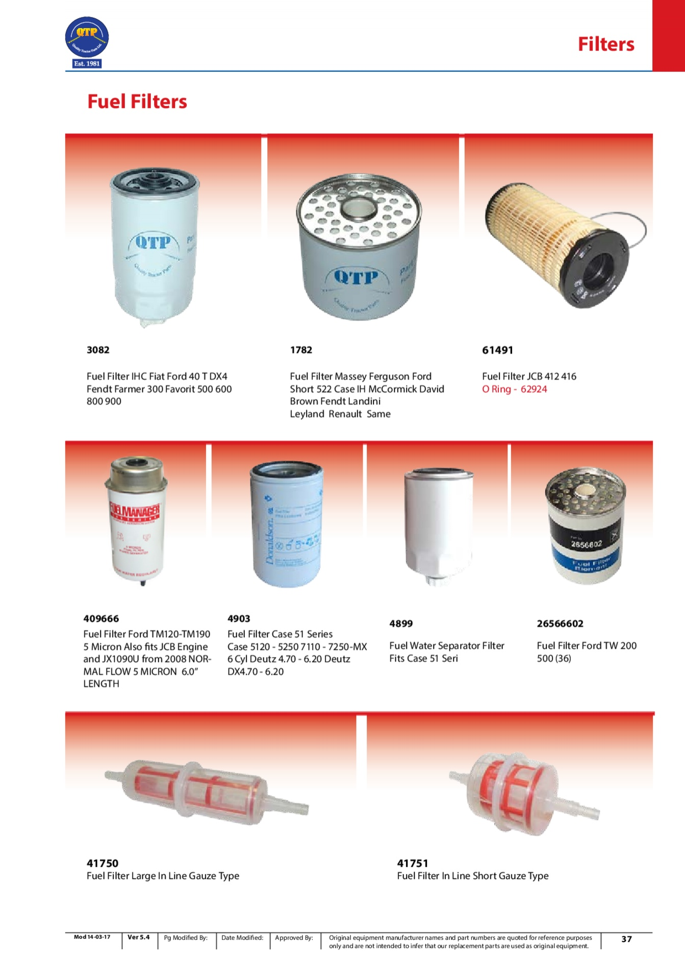 Text Flow Fuel Filter Free Download Wiring Diagram Diesel Inline Ihc Fiat Ford 40 T Dx4 Quality Tractor Parts Along With 30 Micron