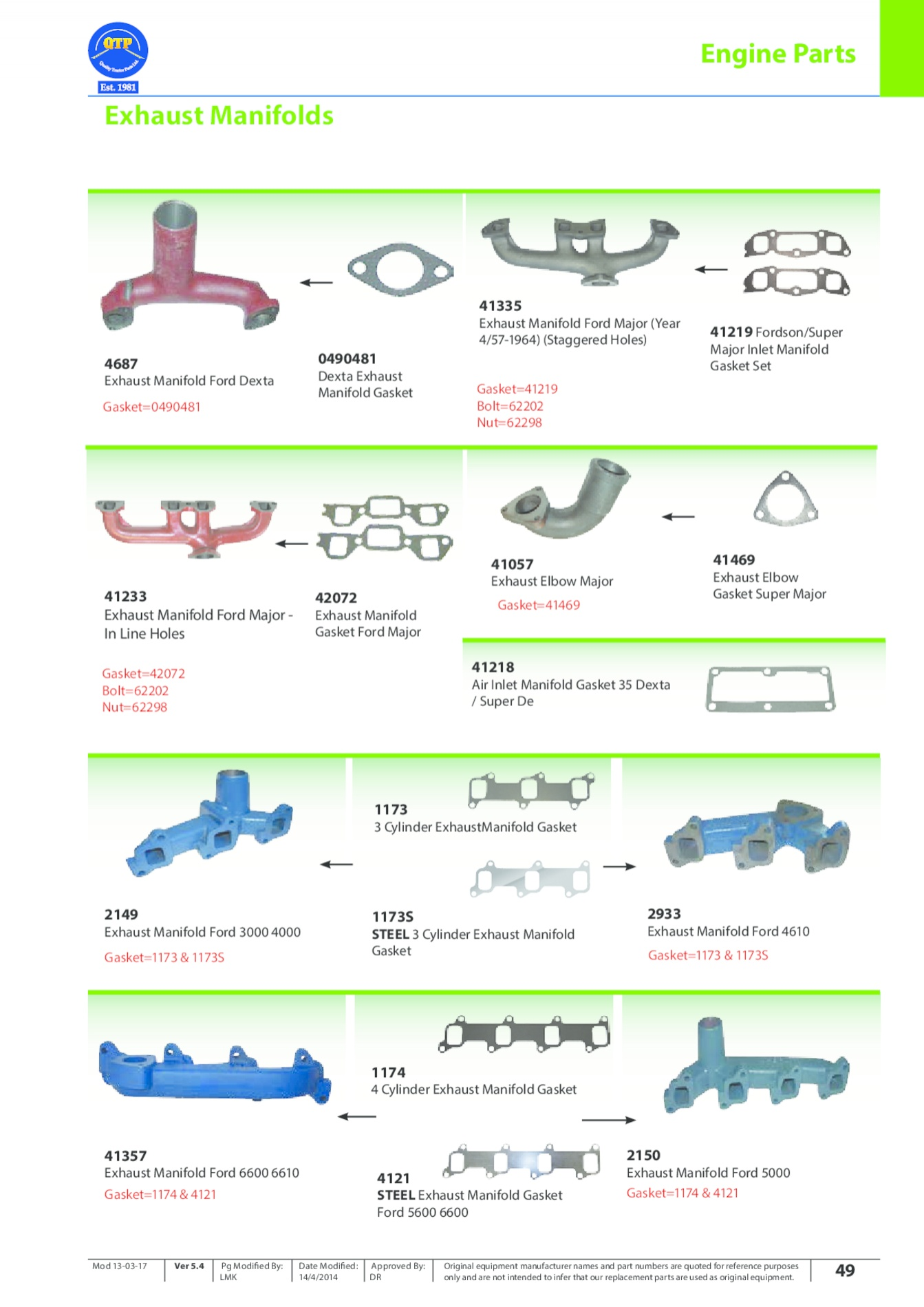 marketing and manifolds product line As we mentioned in our presentation, we often found ourselves pairing the model years 1987 and 1988 gather and the years 1989 and 1 990 together, as the two pairs.