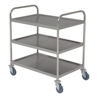 Trolley 3 Tier S/S Economy 860x530x930mm Flat Pack