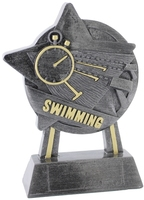 18cm Star Swimming Award (Ant Silver & Gold)