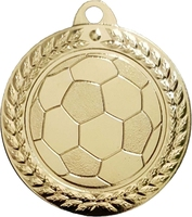 40mm Soccer Ball Medal (Gold)