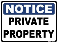 NOTICE Private Property