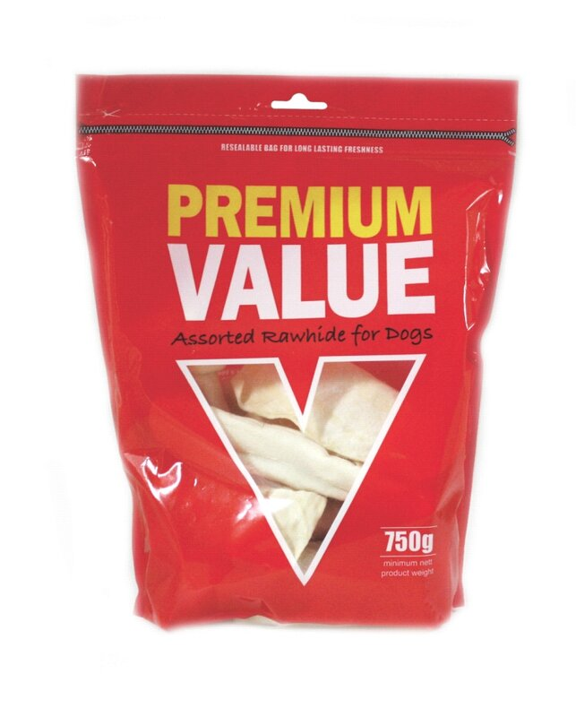 Premium Value Assorted Rawhide 750g