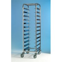 Tray Clearing Trolley Stainless Steel 1x12 No Panels