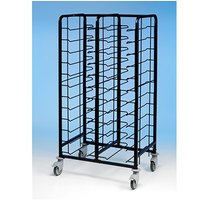 Tray Clearing Trolley Epox Coated 2x12 No Panels