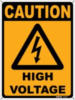 CAUTION High Voltage Sign