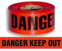 Barrier Tape Danger Keep Out Red/Blk 250m