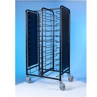 Tray Clearing Trolley Epox Coated 2x12 with Side Panels