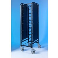 Tray Clearing Trolley Epox Coated 1x12 with Side Panels