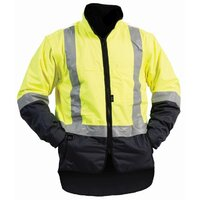 Bison Stamina Hi Vis Day/Night Fleece Lined Vest With Zip Off Sleeves