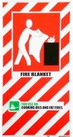 FIRE Blanket Blazon Sign