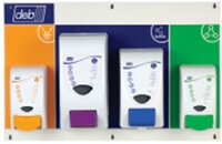 Deb Skin Protection Board - 4 Dispensers Protect, Cleanse Light, Cleanse Heavy & Restore