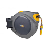Hozelock Hose Reel Auto Retract with 30m Hose & Nozzle