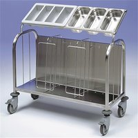 Plate & Cutlery Trolley S/S 1125x640x1100mm