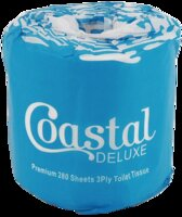 Coastal Deluxe 3ply Toilet Roll 280 Sheet Ctn 48