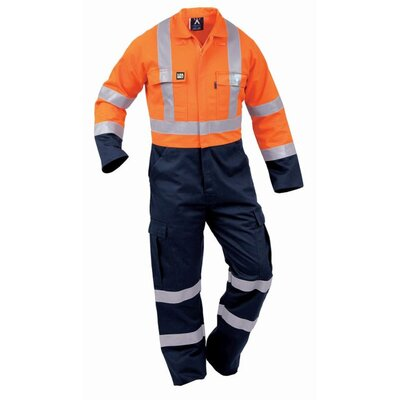 Flameguard Hi Vis Day/Night Cotton Zip Overall 325gsm