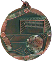 60mm Soccer Medallion (Antique Bronze)