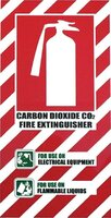 FIRE Extinguisher CO2 Carbon Dioxide  Blazon Sign