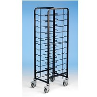 Tray Clearing Trolley Epox Coated 1x12 No Panels