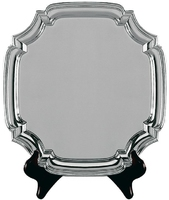30cm Swatkins Heavy Square Nickel Plated Tray