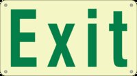 Ecoglo Photoluminescent 24 Metre Exit Sign 290x162mm