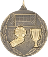50mm Soccer Medallion (Antique Gold)