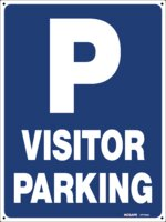 P Visitor Parking Sign