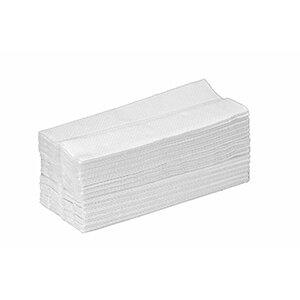 Hand Towel White 2 Ply C Fold 21x30cm