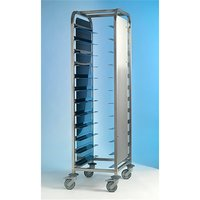 Clearing Trolley 1x10 Stainless Steel with Side Panels