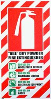 FIRE Extinguisher ABE Dry Powder Blazon Sign