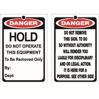 Lockout Tag DANGER Hold Do Not Operate Pkt 25