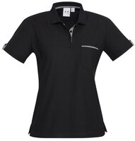 Ladies Edge Contrast Check Poly/Cotton Polo