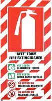 FIRE Extinguisher AFFF Foam Blazon Sign