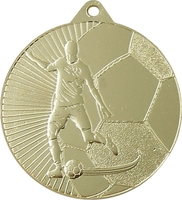 45mm Soccer Player Medal (Gold)